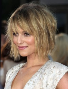 Dianna-Agron-Messy-Bob-Hairstyle